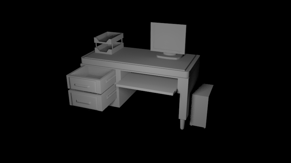 Desk Model WIP by Chris000
