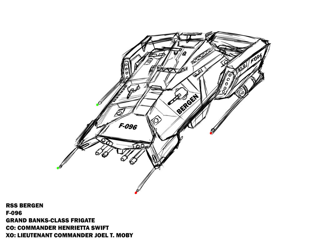 RSS Bergen - Sketch by Chris000
