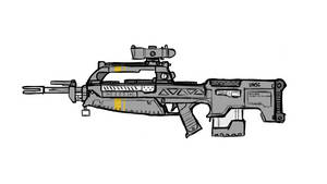 BR55 Battle Rifle Redesign - Sketch