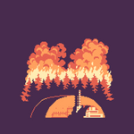 Chernobyl - Red Forest wildfire [WIP] 2
