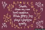 Pseudo Arabic alphabet by meechirumaeda