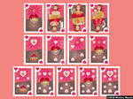 Deck of hearts playing card by meechirumaeda