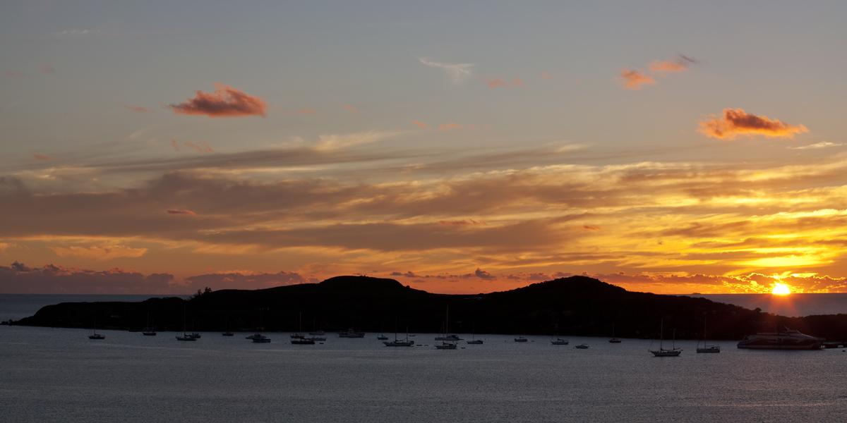 Noumea Harbour Sunset by weaverglenn