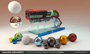 Futuristic weapon - stylized texturing