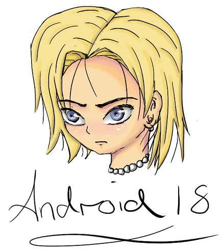 Android 18 by Julesie