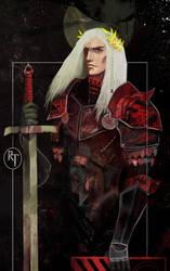 Tarot card of Rhaegar Targaryen
