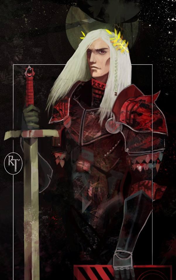 Tarot card of Rhaegar Targaryen by MiyaAshina