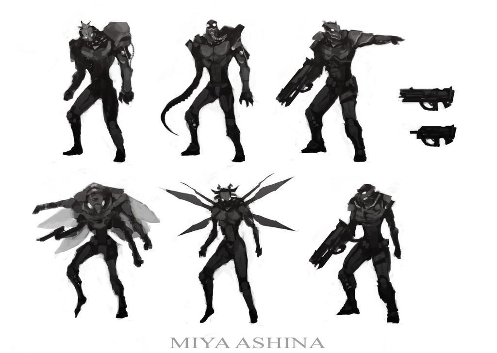 Character Design Thumbnails : Character design thumbnails by miyaashina on deviantart