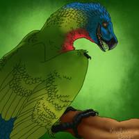 Parrotosaur by KaiKenNatsuki