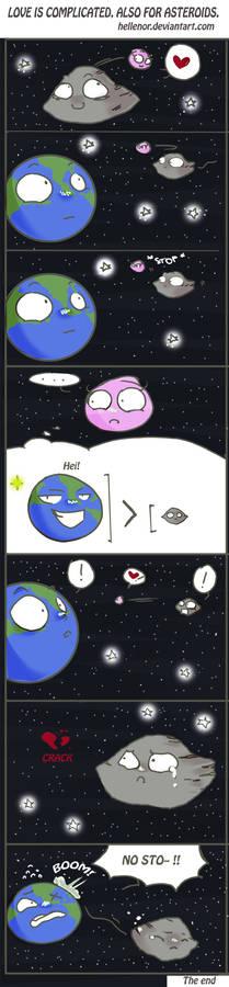 Asteroid 2004 BL86 comic