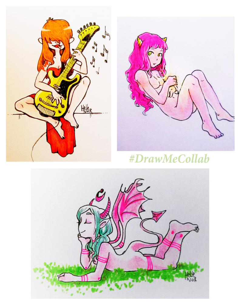 DrawMeCollab entries :D by Hellenor