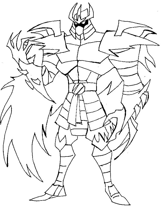 tmnt coloring pages shredder machine - photo#4