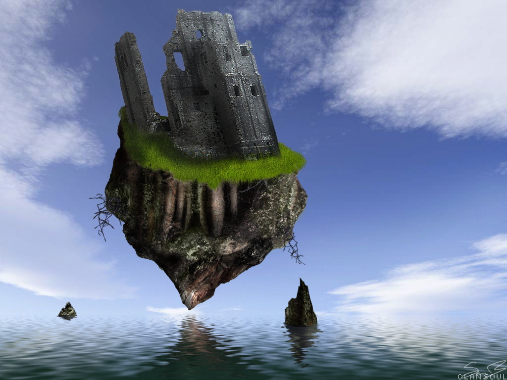 Floating Rock by kaolincash