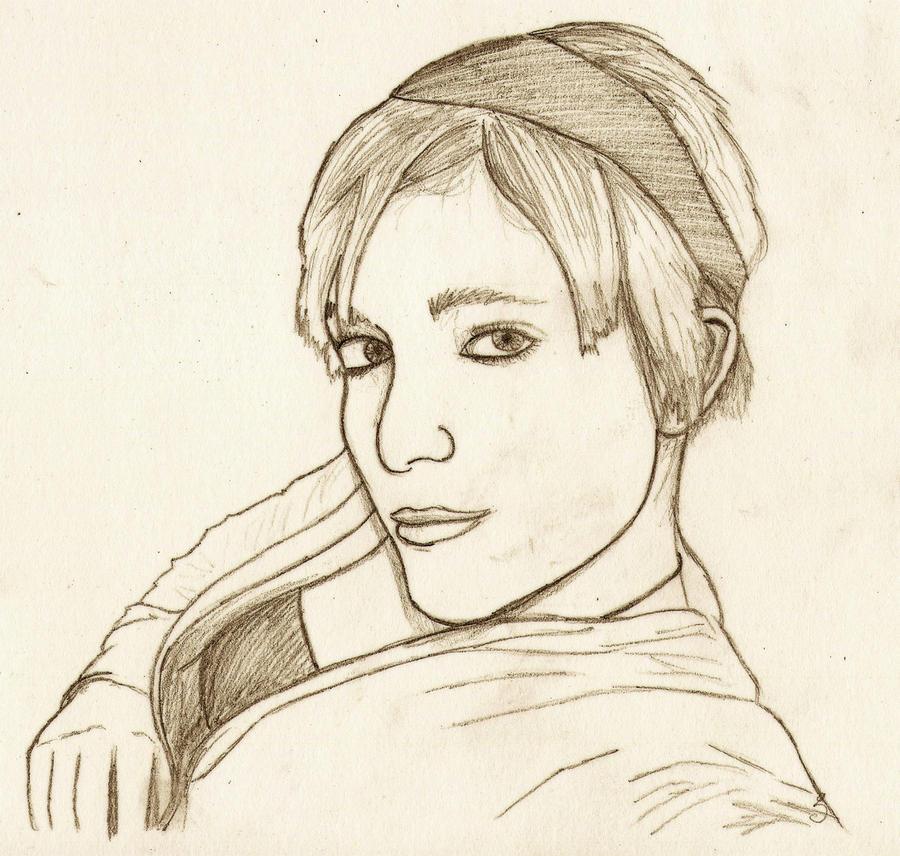 Athena Drawing Athena Drawing by Kaolincash