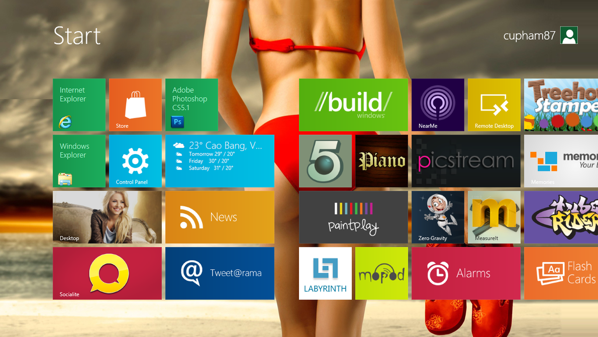 Start screen Windows 8 by cu88