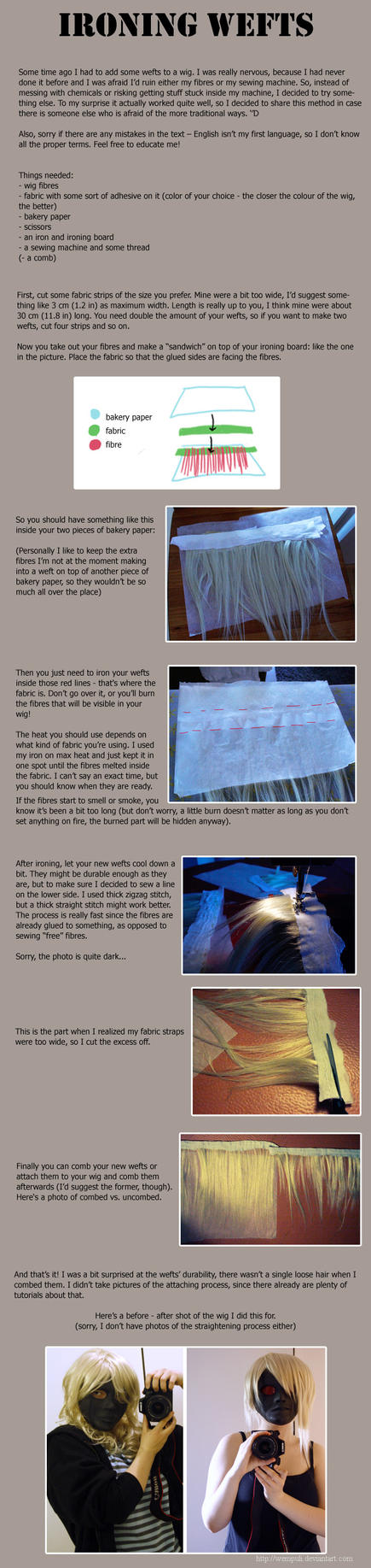 Tutorial: Ironing wefts by eamilia