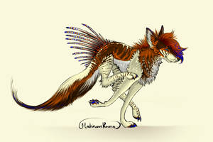 SOLD: April 2014 Quill Dog by MischievousRaven