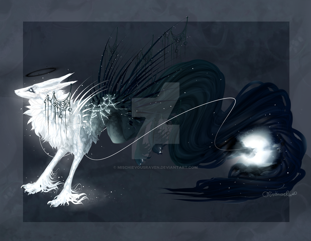 QuillDog Design: Icy Moon's Dark Side (Closed) by MischievousRaven