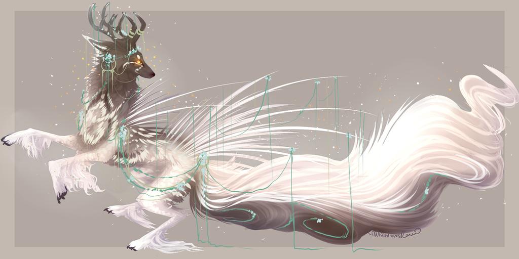 QuillDog Lesser Deity: Regal Forest's Dance by MischievousRaven