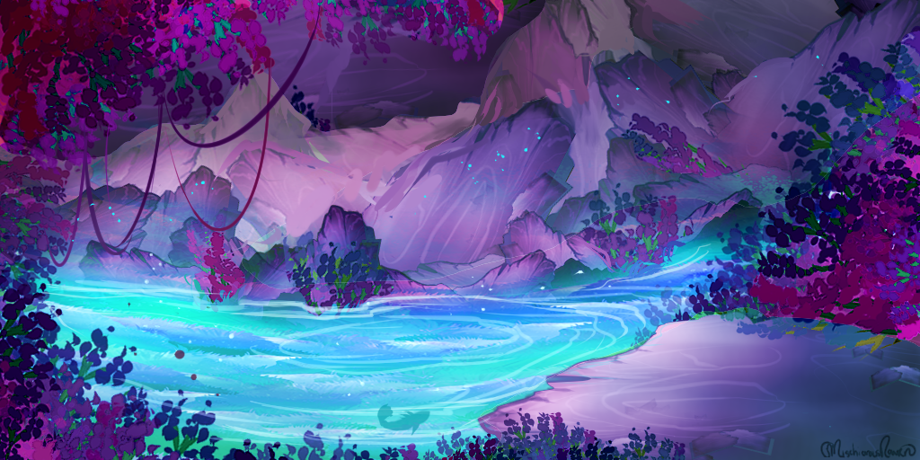 Free to Use BG: Pool of Whimzy by MischievousRaven