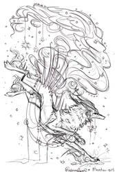 QuillDog Collab: Starwalker by MischievousRaven