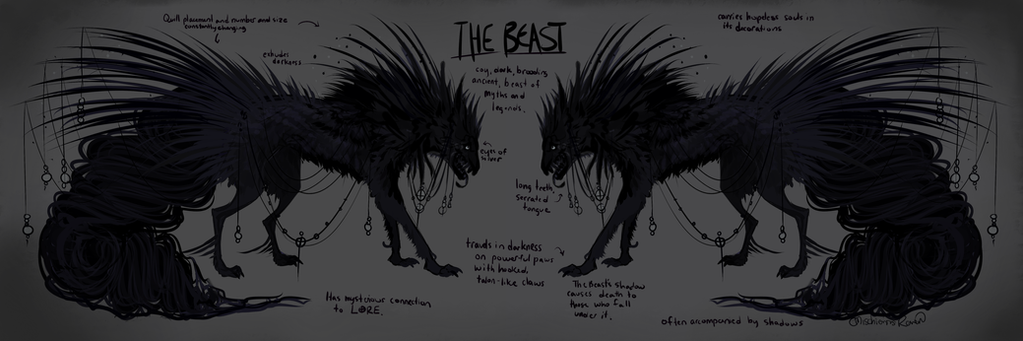 THE BEAST (Up for Auction!) by MischievousRaven