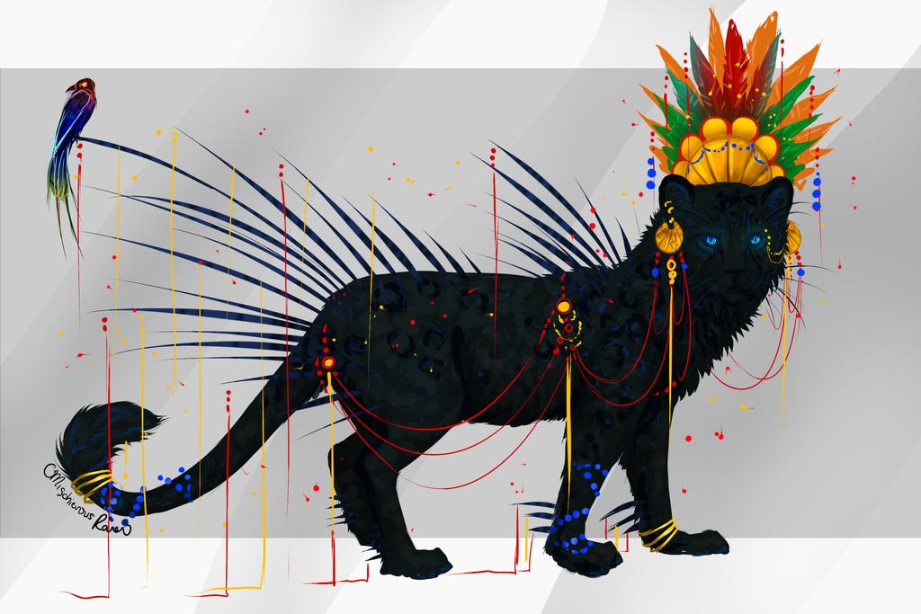 QuillCat: Incan Shadow by MischievousRaven