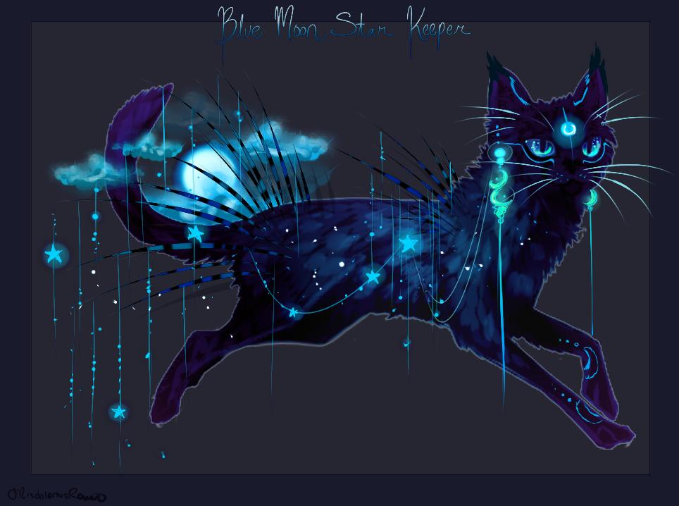 Raffle: Blue Moon Star Keeper QuillCat! by MischievousRaven