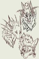 The Trio WIP by MischievousRaven