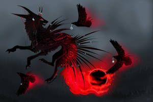 QuillDog Auction: New Moon of Anti-Light by MischievousRaven
