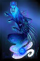 QuillDog X Jackaluna Hybrid Deity: Neptune's Sea by MischievousRaven