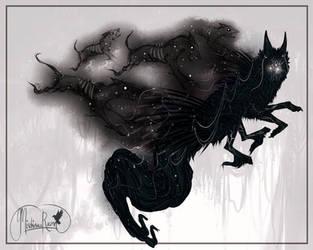 QuillDog SuperDeity #666 Hellhounds's Night by MischievousRaven