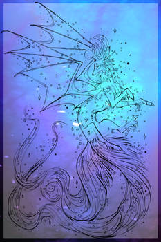 Dragon Jackaluna WIP: Frosted Rainbow Aurora