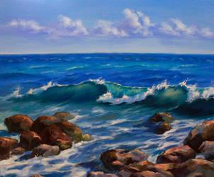 septmber sea by PrusRuslan