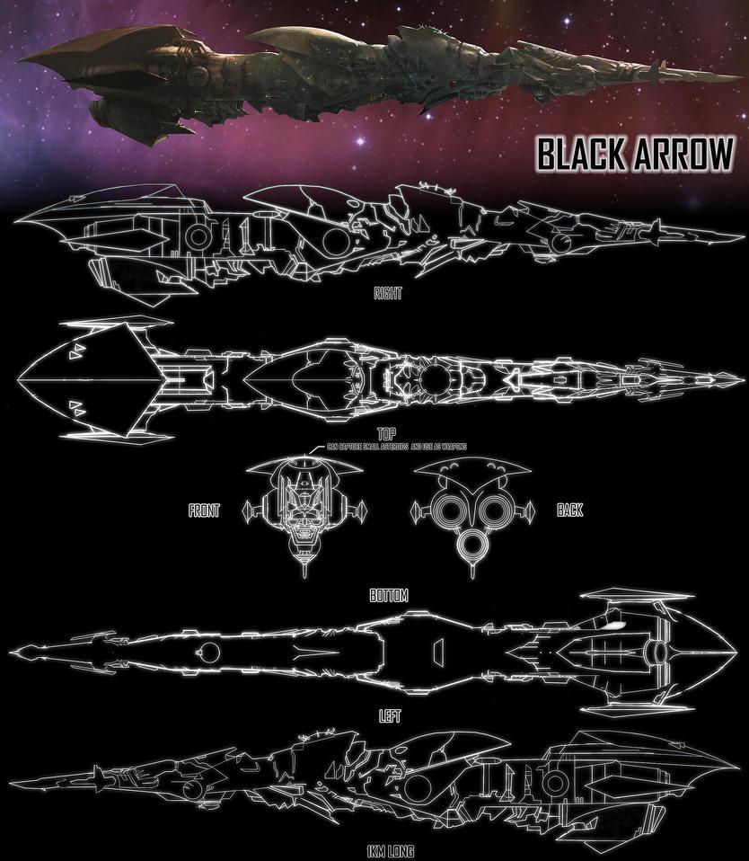 BLACK ARROW destroyer by moonxels