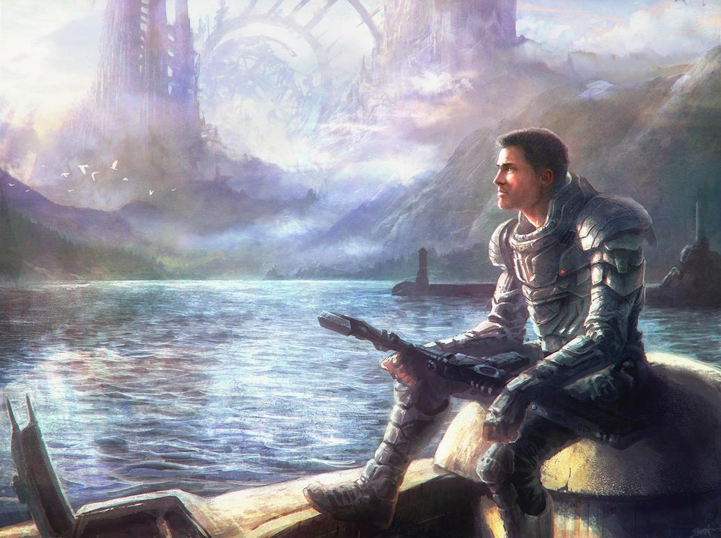 Sci-Fi Melancholy by moonxels