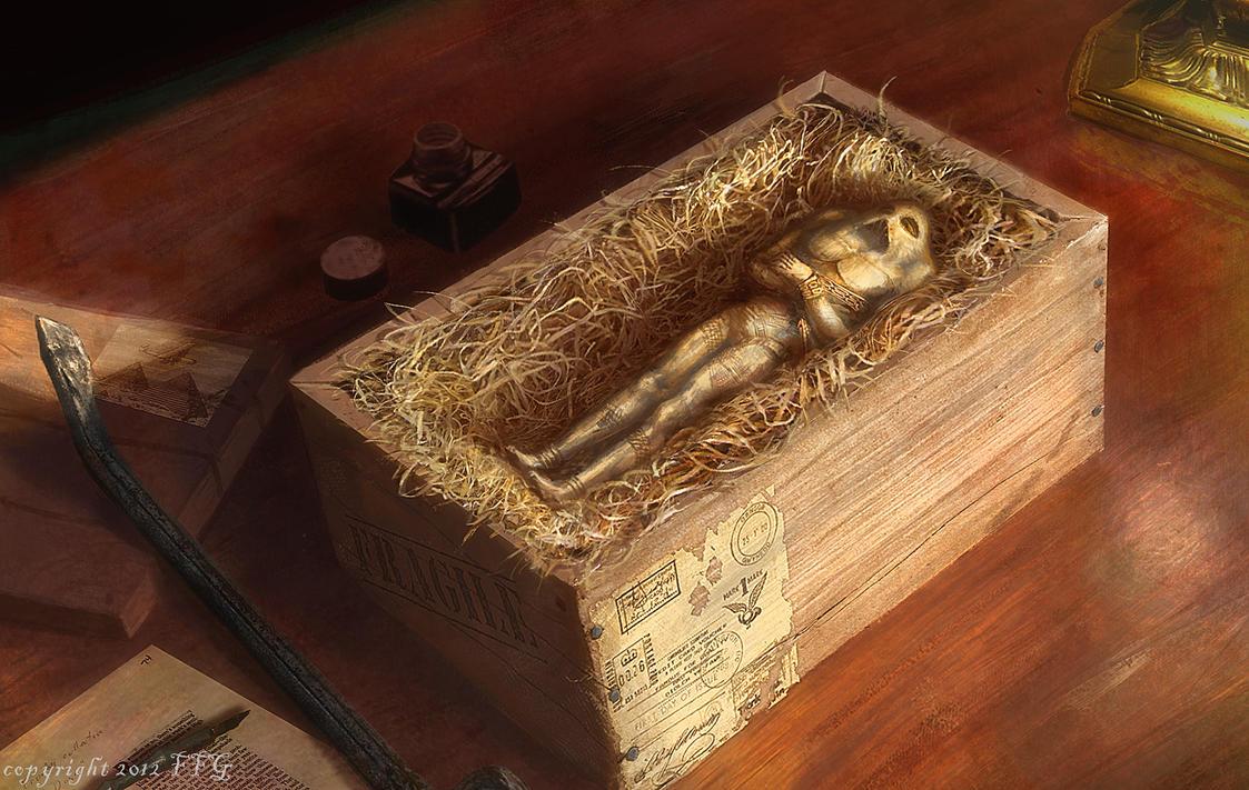 Ithaqua ivory statue (Elder Sign: Omens art) by moonxels