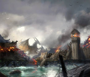 Smaug's havok by moonxels
