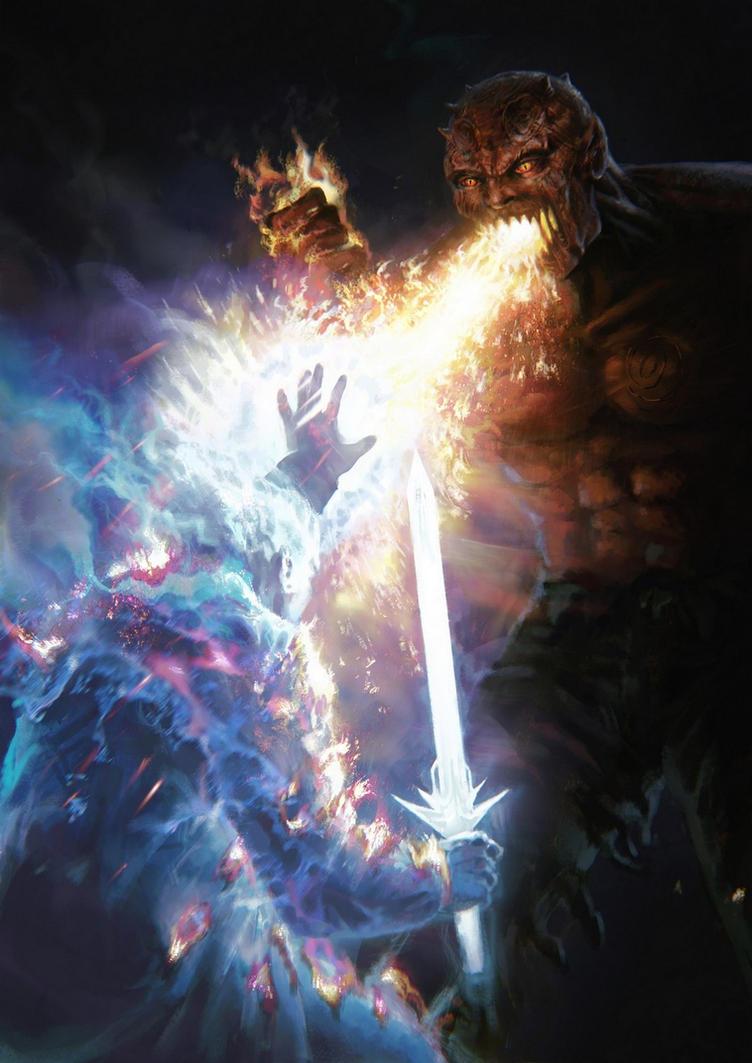 Deviations préférées de la semaine : [KIKY] - Page 5 Demon_vs_angel_by_moonxels-d8xir8p