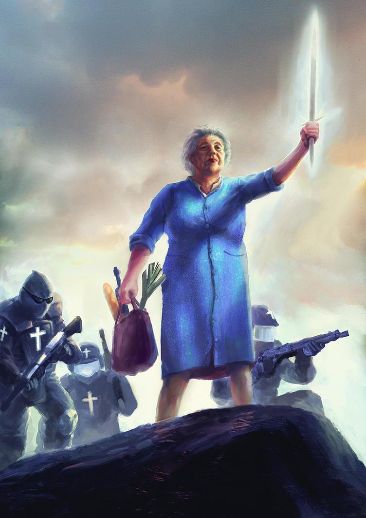 badass grandma by moonxels