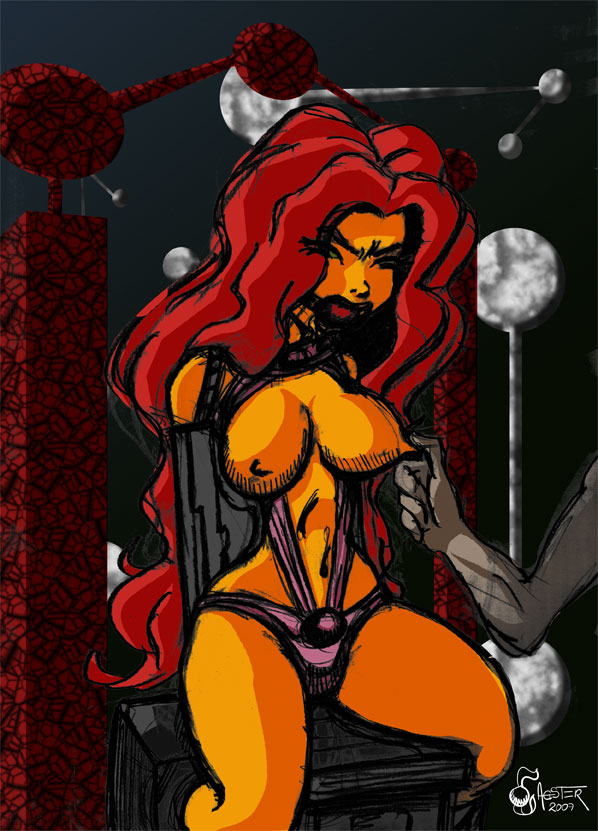 Starfire helpless by thegagster