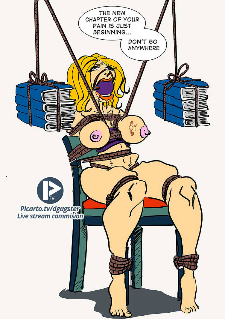 Librarian punished live stream commission by thegagster