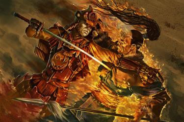 Phoenix Samurai by AndyHep