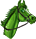 Green Horse With Bridle