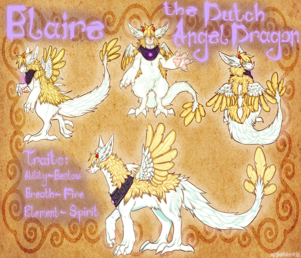Blaire the Dutch Angel Dragon ref 2.0 by SHIROHO