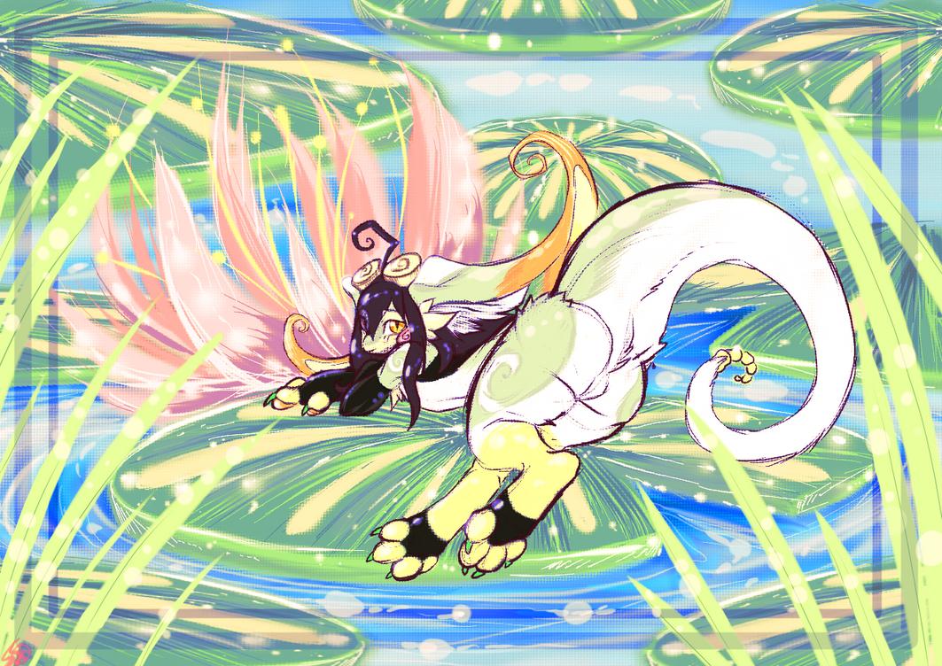m o i s t  pond lillies by SHIROHO
