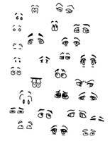 Cartoon Eyes by bagasuit091