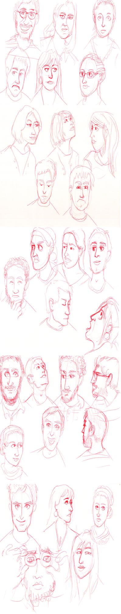 Expressions Sketch Dump by bagasuit091