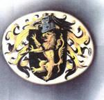 Heraldic Scrimshaw on Ivory