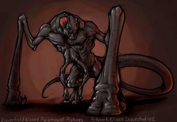 SPOILER-Cloverfield Monster by Dokiestudioz